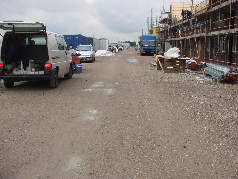 Voorbeeld van een goed begaanbare bouwweg