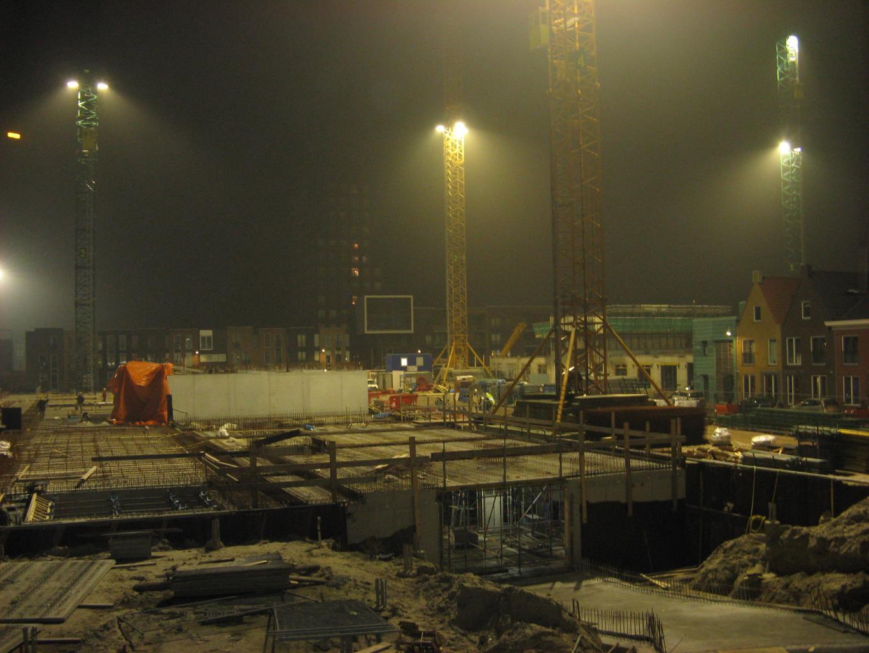 Zorg voor goede verlichting op het bouwwerk