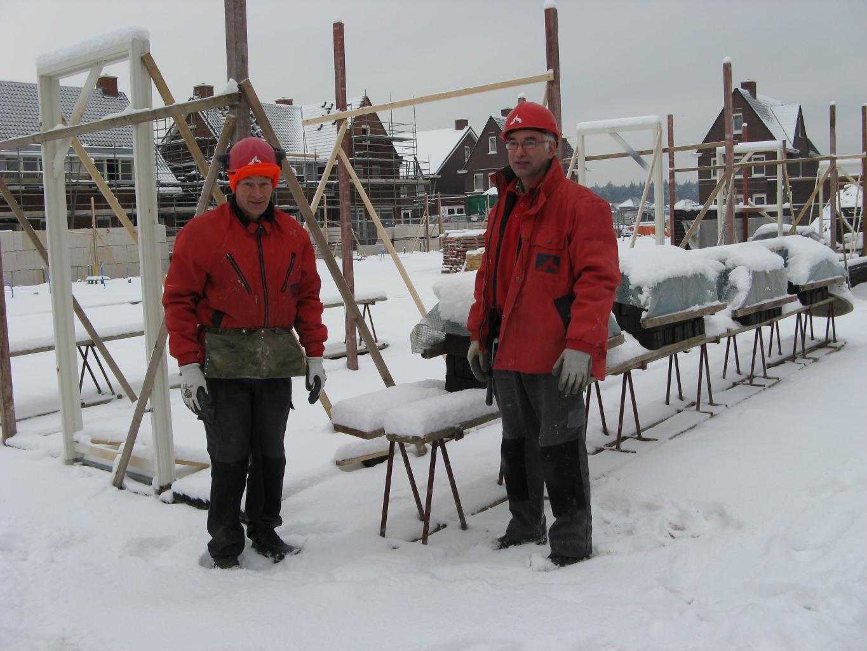 Voorbeeld van goede winterdoorwerkkleding.