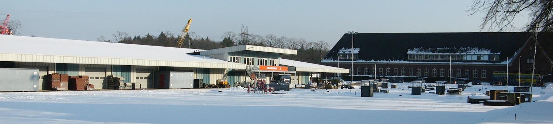 Winter op de bouwplaats